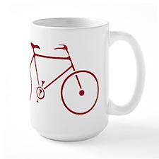 Red and White Cycling Mug