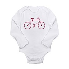 Red and White Cycling Long Sleeve Infant Bodysuit