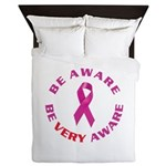 Breast Cancer Awareness Queen Duvet