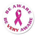 Breast Cancer Awareness Round Car Magnet
