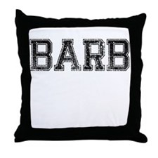 BARB, Vintage Throw Pillow