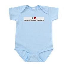 I Love SAN DIEGO COUNTRY ESTA Infant Creeper