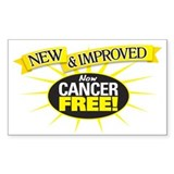 Cancer Free Rectangle Decal