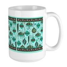 Green Tint Ornaments Mug