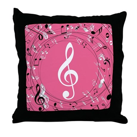 Music Teacher Treble Clef Gift Throw Pillow