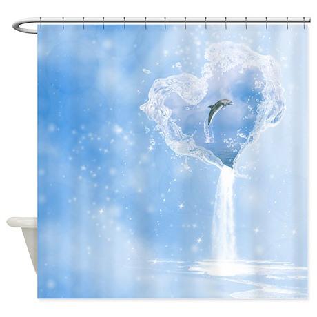 ... aquatic life bathroom decor the heart of the ocean shower curtain