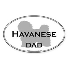 Havanese DAD Oval Decal