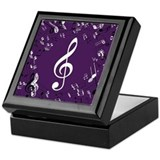 Treble Clef Music Gift Keepsake Box