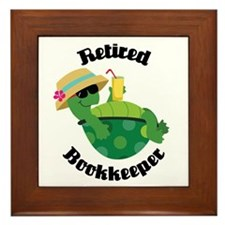 Retired Bookkeeper Gift Framed Tile