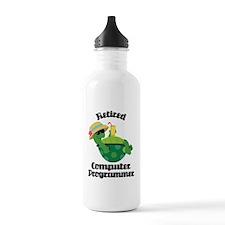 Retired Computer Programmer Water Bottle