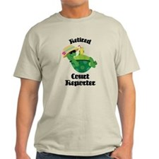 Retired Court Reporter Gift T-Shirt