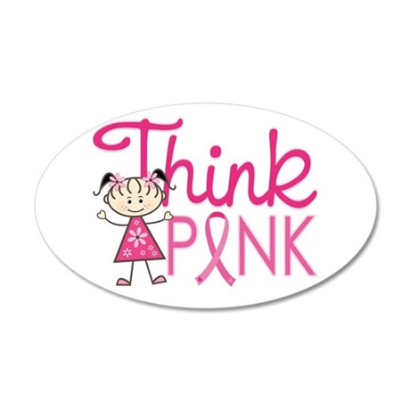 Think Pink 35x21 Oval Wall Decal
