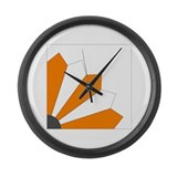 dresden quilt - utv Large Wall Clock