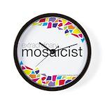 Extraordinary Mosaicist Wall Clock