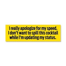 Speedy Apology Car Magnet 10 x 3