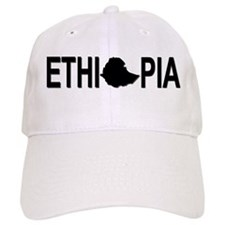 Ethiopia Word with Map Baseball Cap