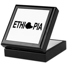Ethiopia Word with Map Keepsake Box