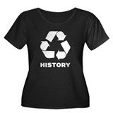 History Recycles Women's Plus Size Scoop Neck Dark