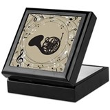 French Horn Musical Gift Keepsake Box