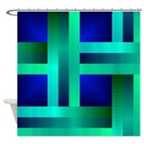 Interlocking Ribbons Shower Curtain