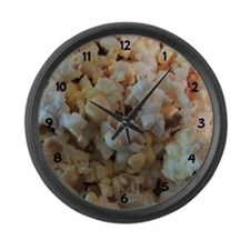 Popcorn Photograph Numbers Large Wall Clock