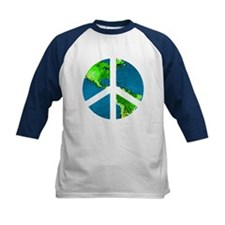 Peace Earth Kids Baseball Tee