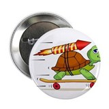 "Rocket Propelled Tortoise 2.25"" Button"
