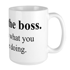 Not the Boss, Just the Expert! Mug
