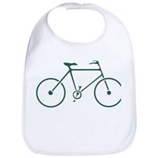 Green and White Cycling Bib