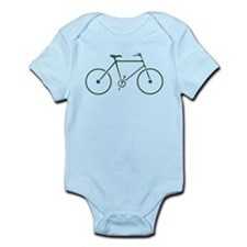 Green and White Cycling Infant Bodysuit