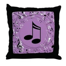 Musician Gift Musical notes Throw Pillow