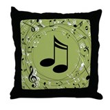 Musical notes Throw Pillows
