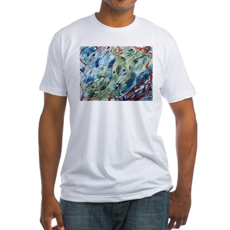 Untitled Abstract Fitted T-Shirt