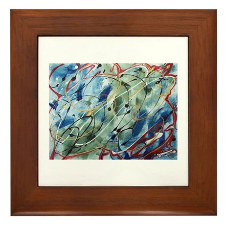 Untitled Abstract Framed Tile