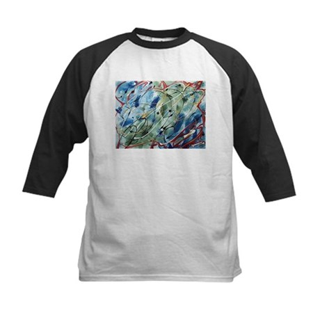 Untitled Abstract Kids Baseball Jersey