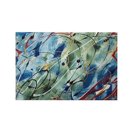 Untitled Abstract Rectangle Magnet