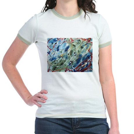 Untitled Abstract Jr. Ringer T-Shirt