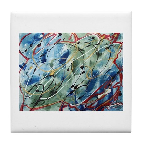 Untitled Abstract Tile Coaster