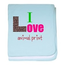 I love animal print baby blanket