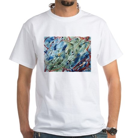 Untitled Abstract White T-Shirt