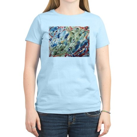 Untitled Abstract Women's Pink T-Shirt