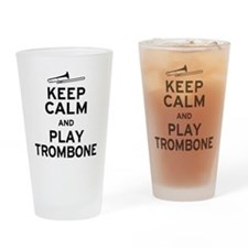 Keep Calm Play Trombone Drinking Glass