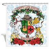 Kaniac Holiday Crest Shower Curtain