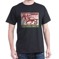 1942 Germany Race Horse Postage Stamp T-Shirt