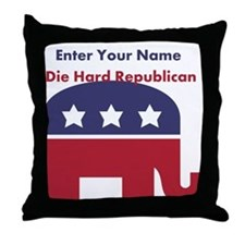 Personalize Die Hard Republican Throw Pillow