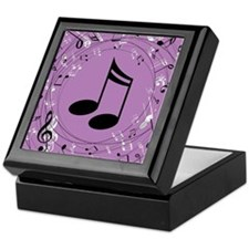 Musician Gift Musical notes Keepsake Box