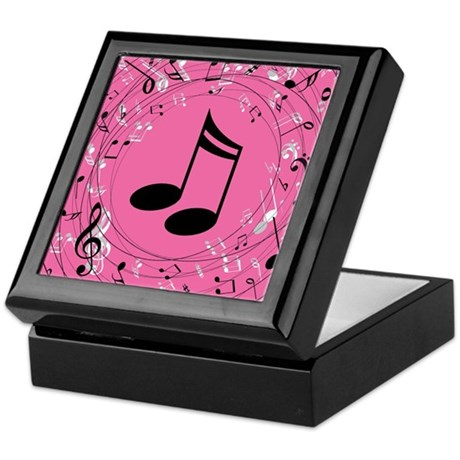 Music Notes (Pink) Gift Keepsake Box