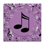 Musician Gift Musical notes Tile Coaster