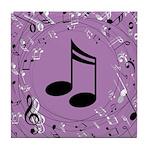 Musician Gift Musical notes Tile Coaster