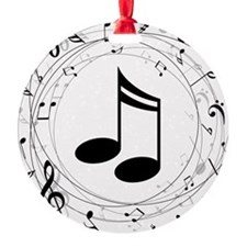 Music Teacher Gift Idea Round Ornament